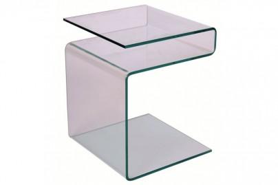 Effy üveg lerakó asztal