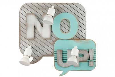 """Comic Book fali lámpa - """"No + Up"""""""