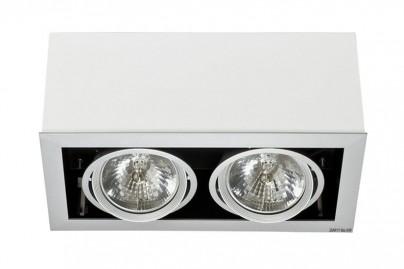 Box mennyezeti beépíthető lámpa-fehér 2 izzós