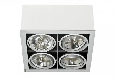 Box beépíthető mennyezeti lámpa-fehér 4 izzós