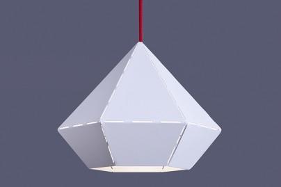 Diamond White-Red függeszték