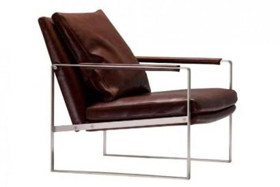 Barna bőr fotel
