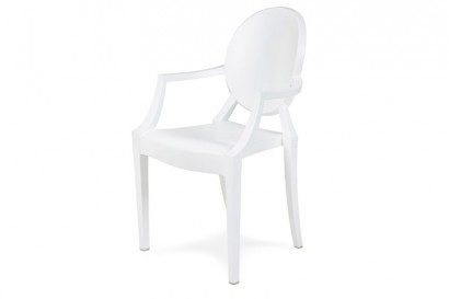 Ludvig karfás szék - fehér