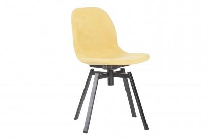 Petal teljesen kárpitozott szék fekete forgós lábbal
