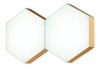 Pettine LED fali lámpa arany