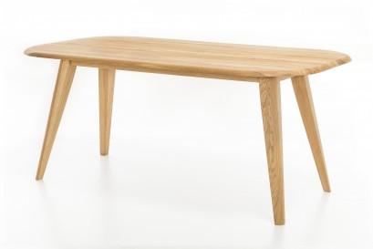 Standart Odin asztal - fehérített olajozott tömör tölgy - 160cm