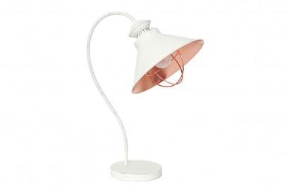 Loft asztali lámpa - antik fehér