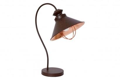 Loft asztali lámpa - barna