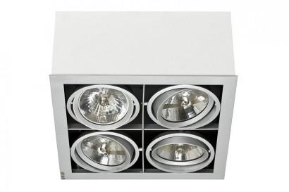 Box mennyezeti lámpa-fehér 4 izzós