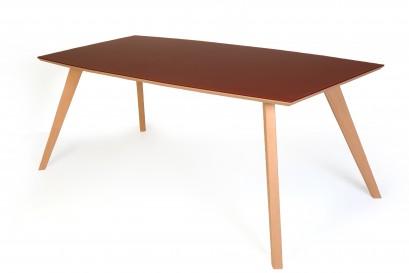 Standart Thorben asztal - fehérített tölgy/üveg - 160cm