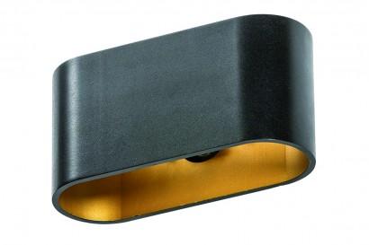 Vega Black-Gold fali lámpa